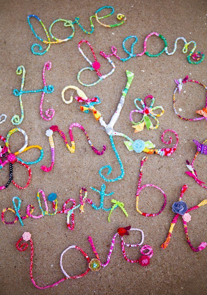 i really like my job | Draht, Worte und Buchstaben