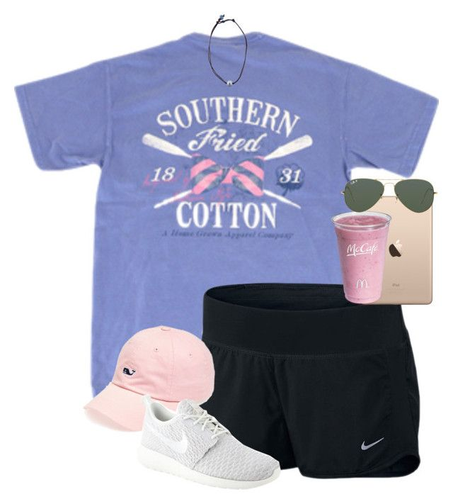 """""""love this set!!!"""" by caroline-barker ❤ liked on Polyvore featuring NIKE, Vineyard Vines, Kala and Ray-Ban"""