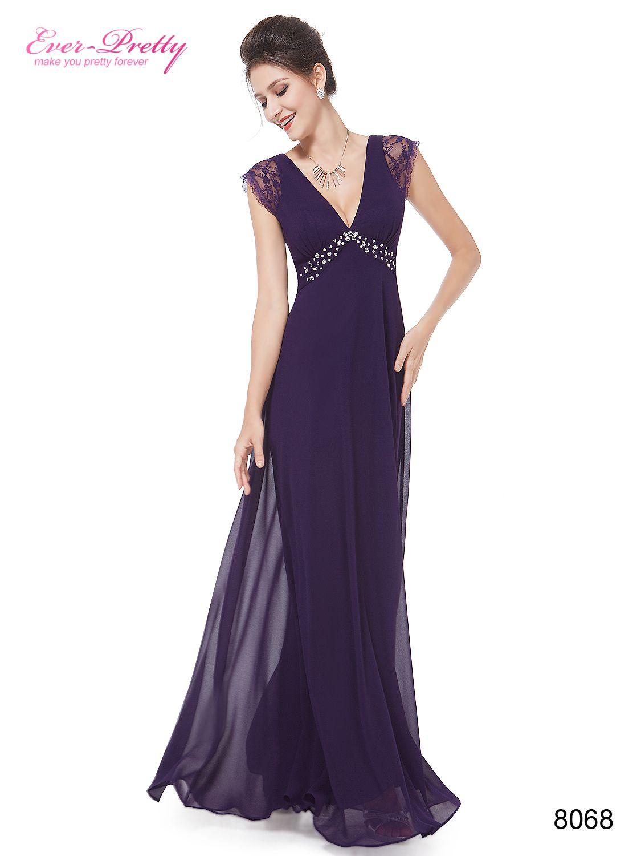 Vneck cap sleeve evening dress prom summer and black prom
