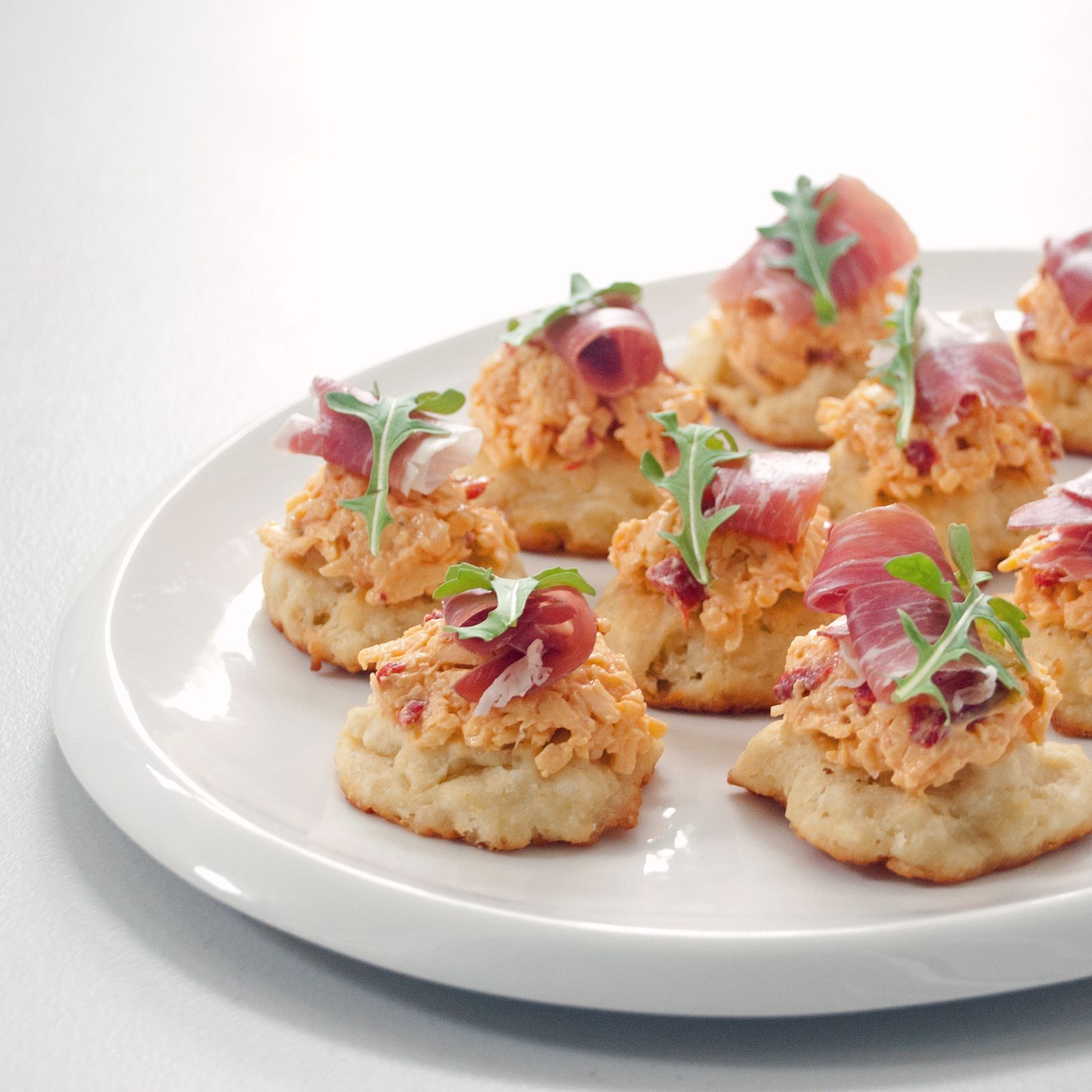 Pimiento Cheese And Ham Scramble: Southern Stunners: Pimento Cheese And Prosciutto Biscuits
