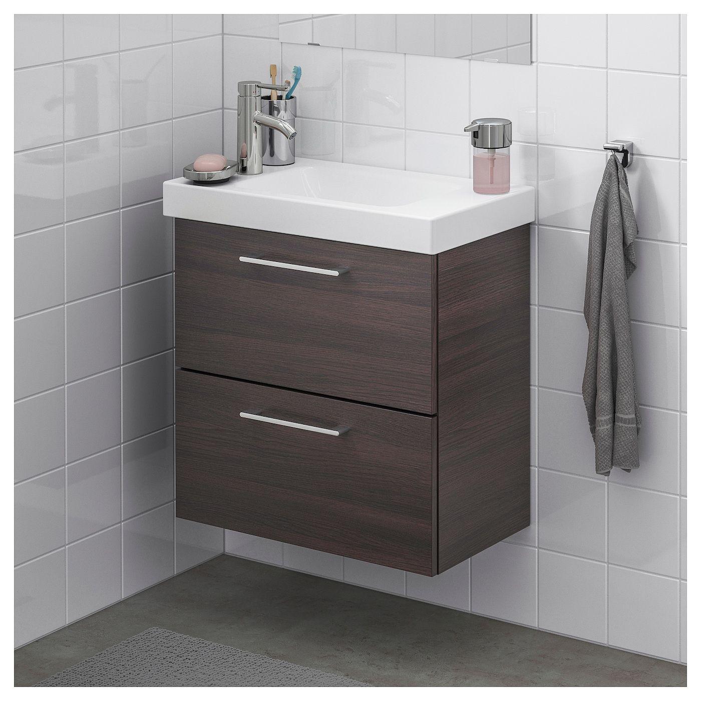 Ikea Godmorgon Hagaviken Bathroom Vanity Black Brown Dalskar Bathroom Vanity Sink Cabinet Ikea Godmorgon