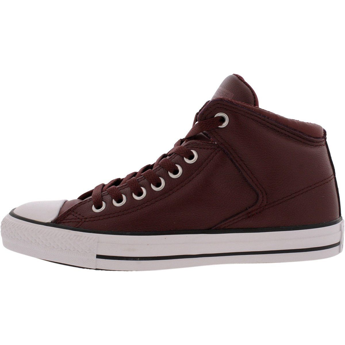 26ca3acb8c9c Converse - CT All Star High Street Mid Leather Sneaker -Deep Bordeaux