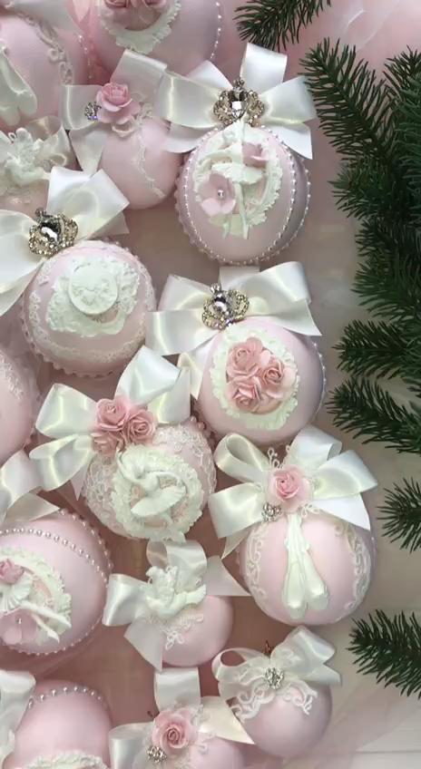 Photo of Ballerina Ornament Set Christmas Ornament Set Handmade Ballerina Gifts Women Ballerina Art Pink