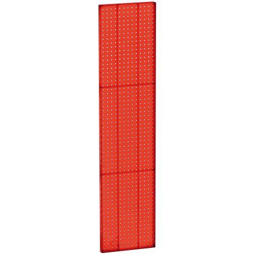 Azar 771360 Red Pegboard 1 Sided Wall Panel Red Translucent Color 2 Pack By Azar Displays 104 28 These Plastic Pe Plastic Pegboard Wall Paneling Peg Board