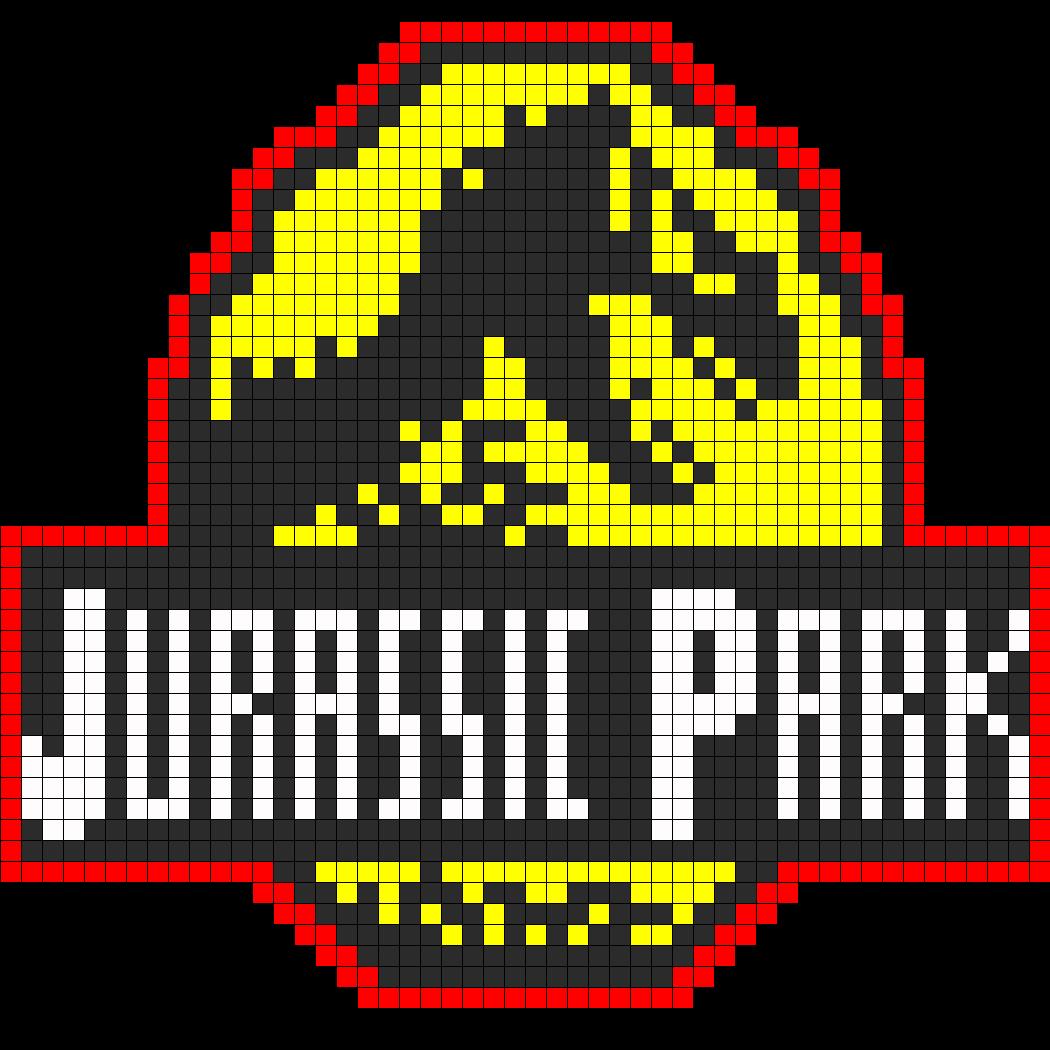 Jurassic Park Logo Perler Bead Pattern / Bead Sprite