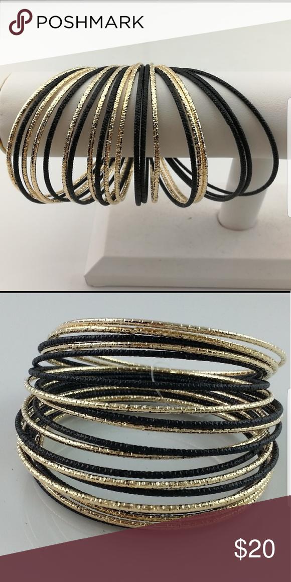 new black gold bracelet stack boutique rh pl pinterest com