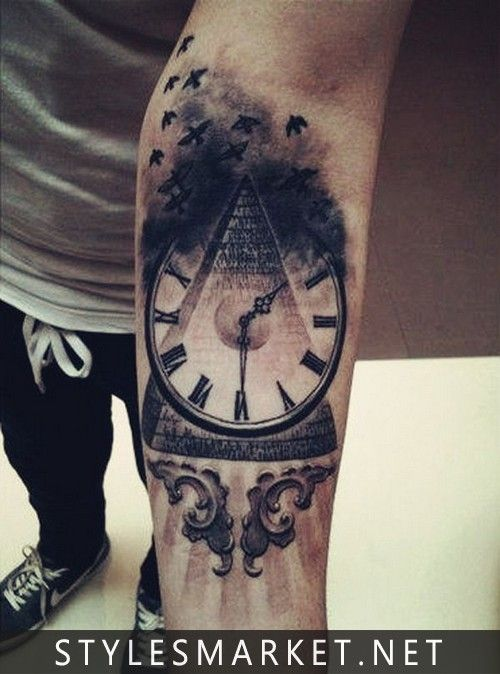 Smart Clock Tatoo On Left Hand With Images Forearm Tattoo Men Forearm Tattoos Tattoos