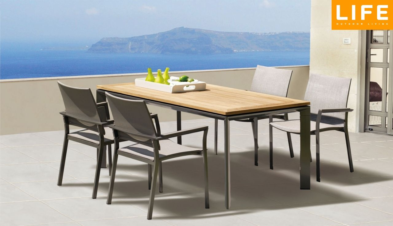 Dining set dolphin stonegrey tuinmeubel collectie life outdoor