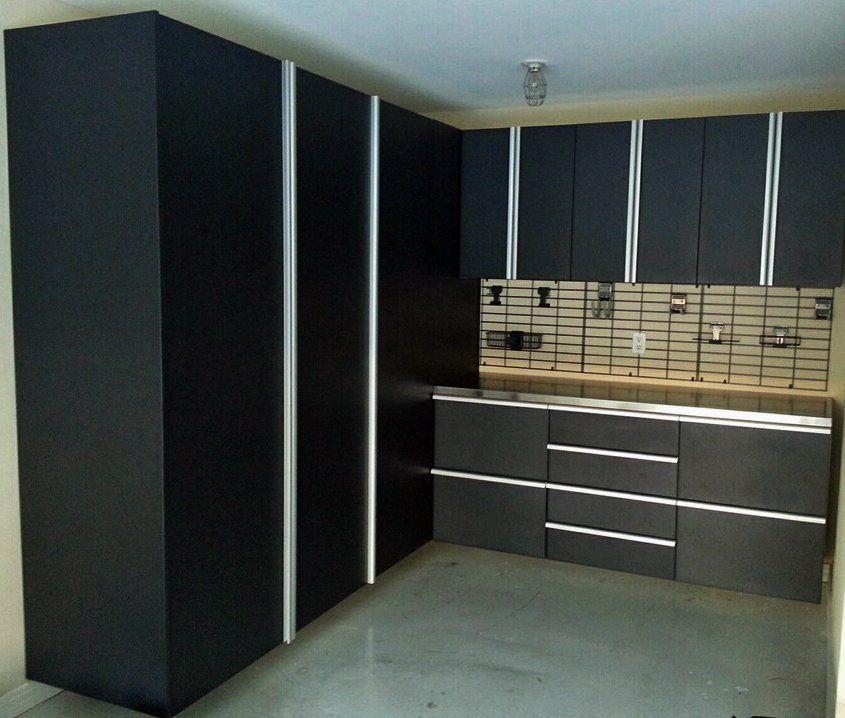 Modern Dark Garage Cabinets Custom Closets Custom Closet Design