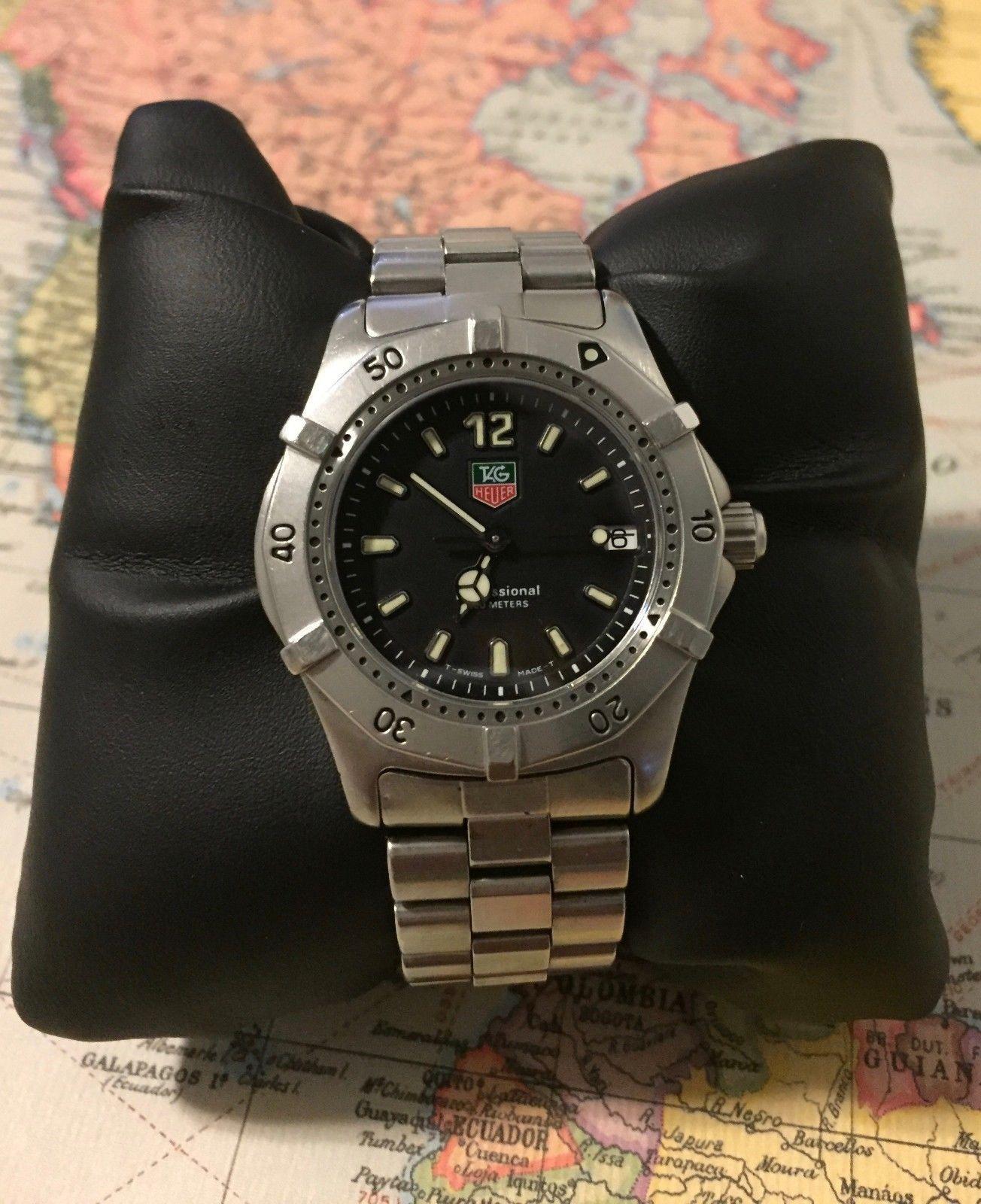 Tag Heuer 2000 Classic SS Watch Midsize WK1210 Black - Serviced! Warranty! b41e5ea7e4