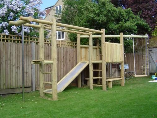 wooden climb slide frame backyard kids climbing. Black Bedroom Furniture Sets. Home Design Ideas