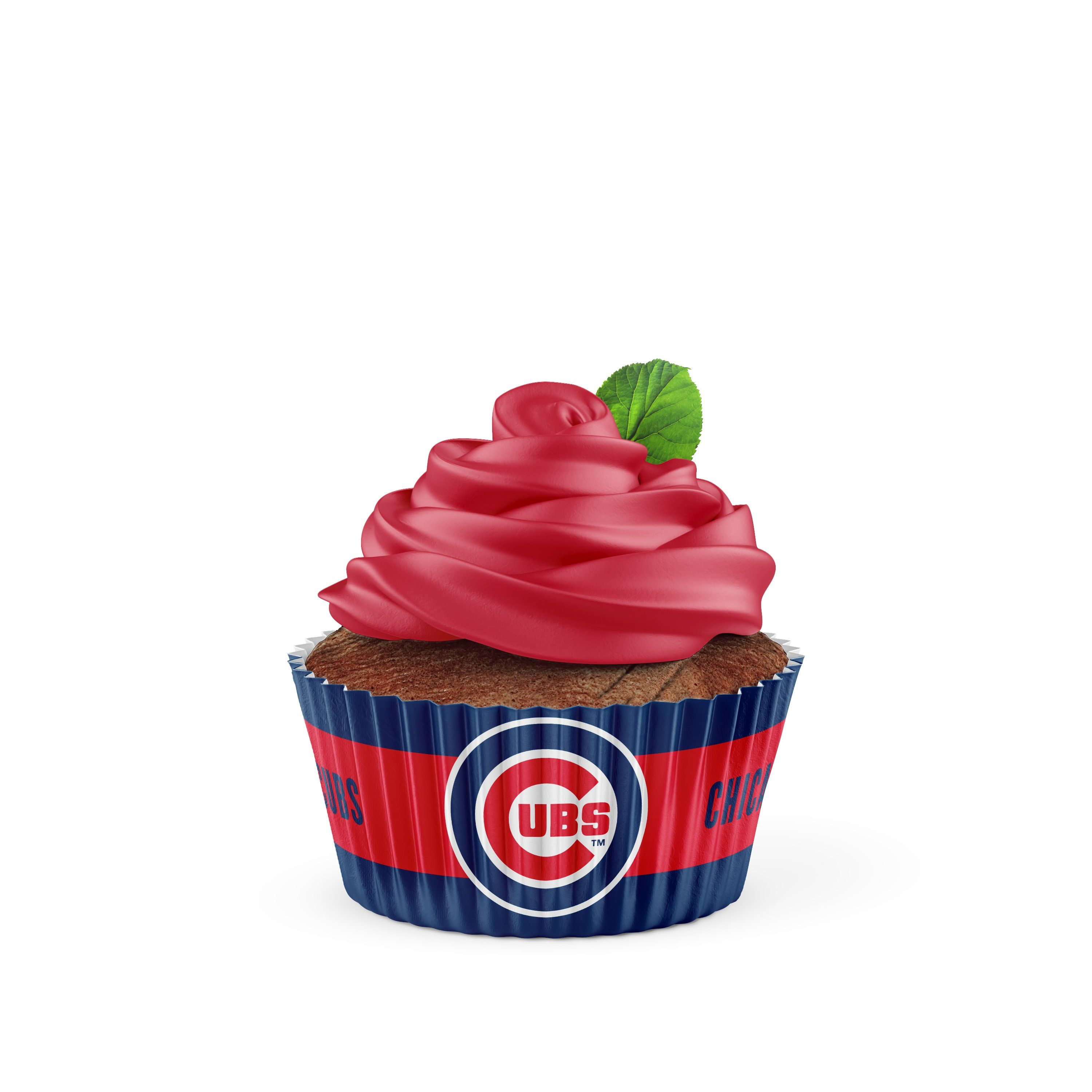 Chicago Cubs Baking Cups Large 50 Pack Baking Cups Crunch Cereal Baking