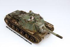 WW2 Soviet SU-152 German service. BRONCO 1/35 scale. By Fabrizio Pincelli. #scale_model