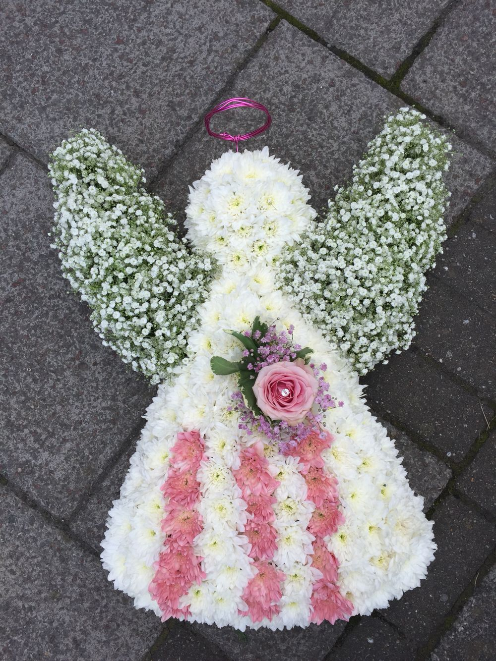 Angel funeral tribute grave flowers pinterest funeral funeral angel funeral tribute izmirmasajfo
