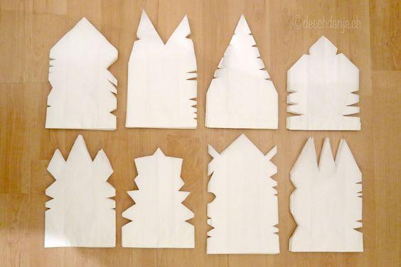 Papiertuetensterne basteln weihnachten sterne aus papiert ten und papier - Weihnachtsdekoration basteln mit kindern ...