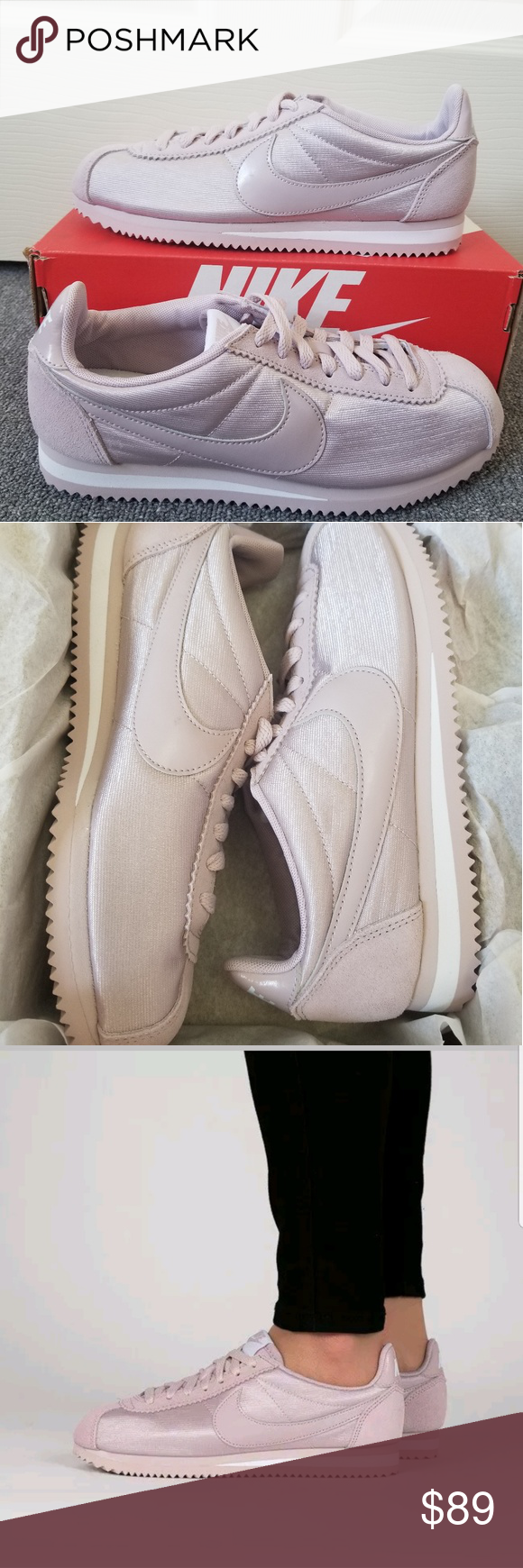 the latest 3f7fd 92ca2 Nike Classic Cortez Nylon Particle Rose Pink Shoes New in Box Women s Nike  Classic Cortez Nylon