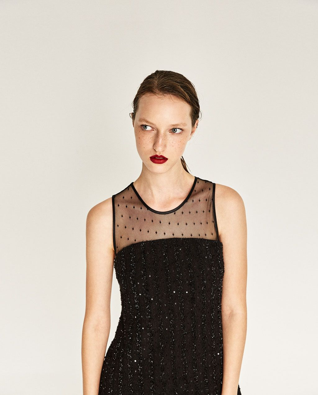 Imagen 2 de VESTIDO PLUMETI de Zara | Luv to wear | Pinterest | Robe