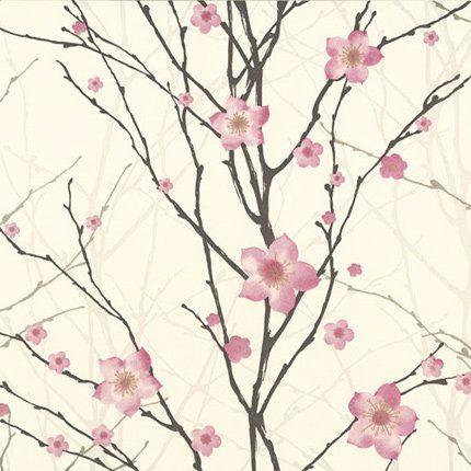 Papier peint spirit graham brown illustration v g tale revetement et - Papier peint cerisier japonais ...