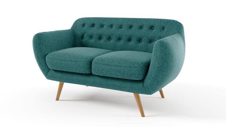canape 2places vintage capitonne scandinave bleu ondigy mobiliermoss