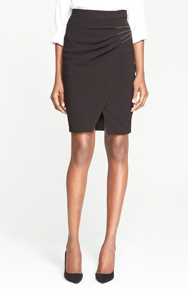 L'AGENCE 'Karen' Side Pleat Wrap Pencil Skirt available at #Nordstrom