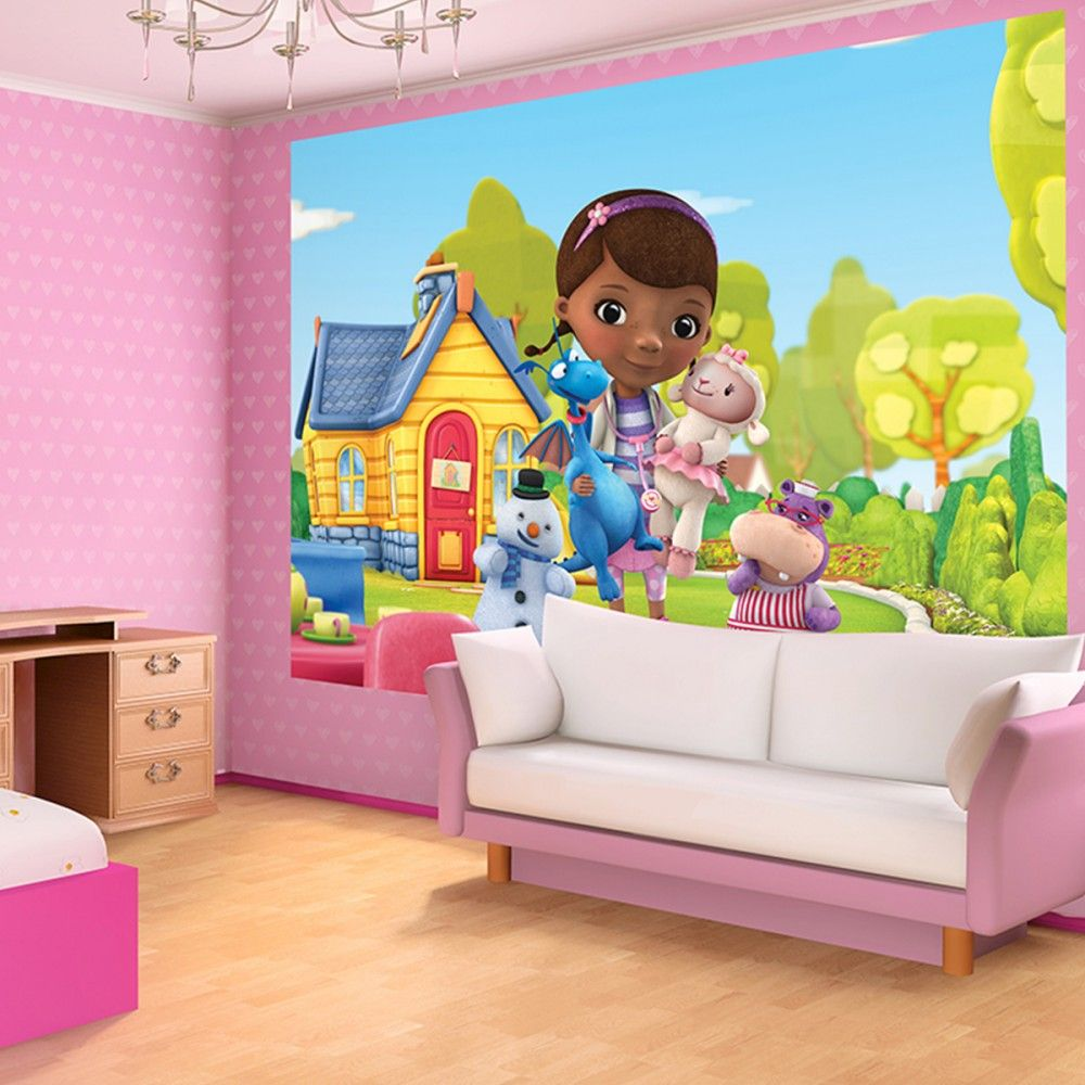 disney doc mcstuffins bedrooms for girls | disney doc mcstuffins wallpaper  washable with glue included theme