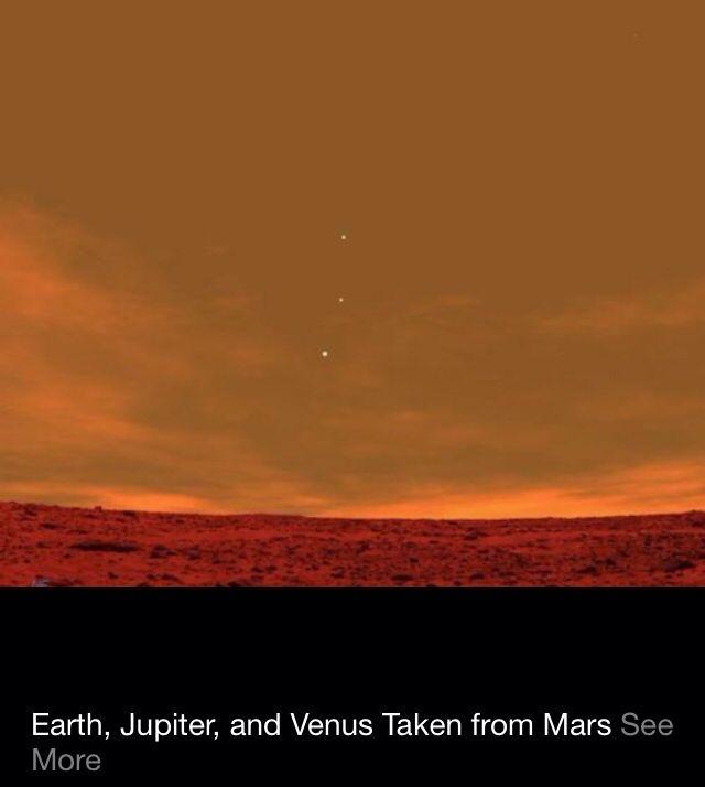 Earth. Jupiter, and Venus, Taken From Mars