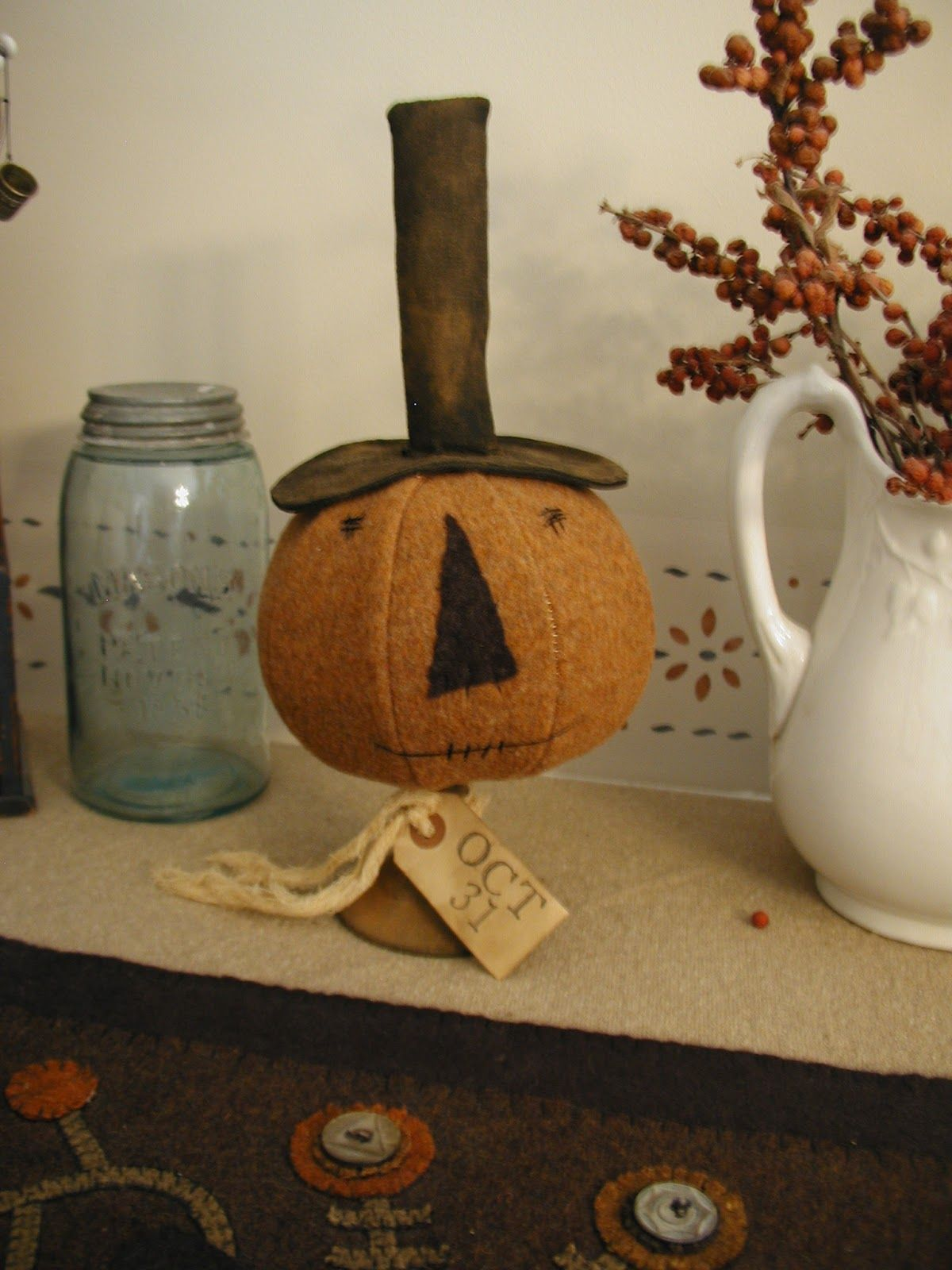 Threadwork Primitives (Nan): It's Been Too Long -   21 primitive autumn crafts