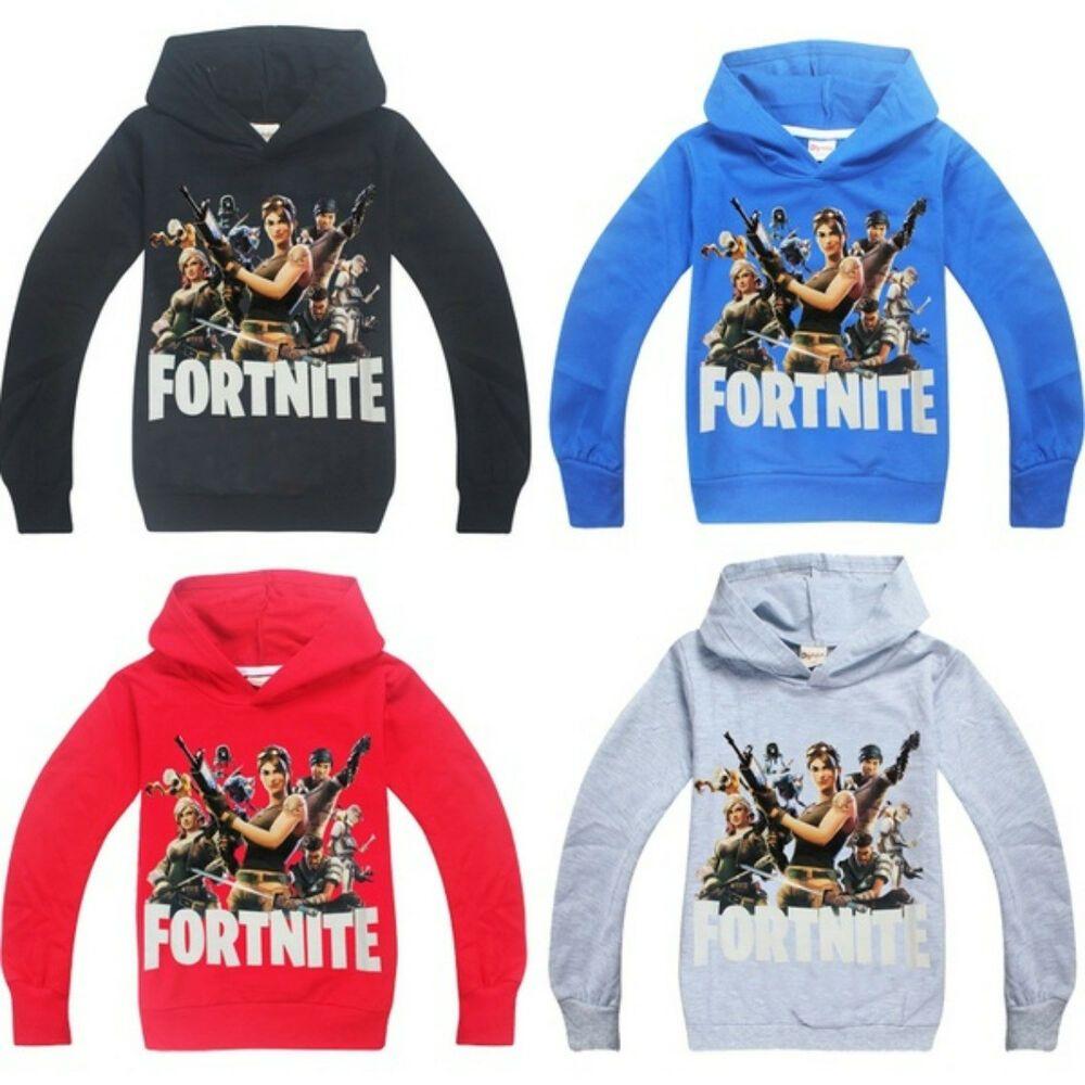 Fort Night Game Kid Hoodie Cotton Hooded Boys Sweatshirt Causal Boy Outfits Set