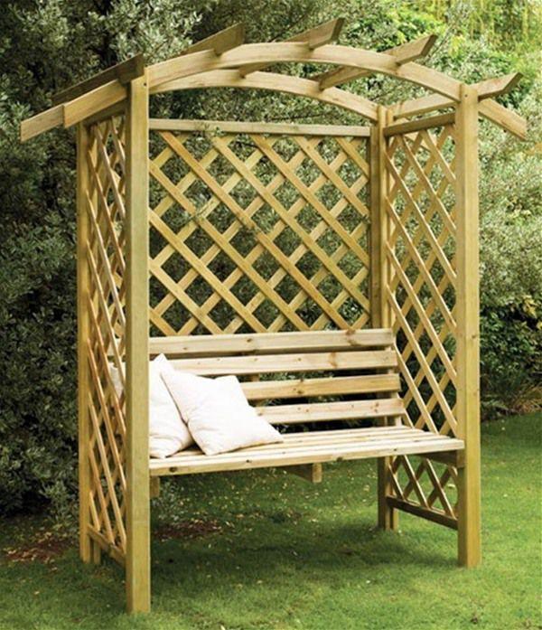 forest garden galway lattice arbour seat - Garden Furniture Galway