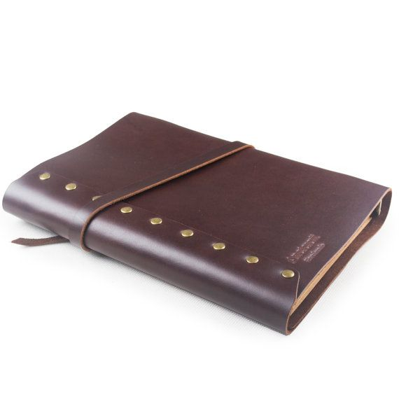 Vintage Leather Journal Diary Planner With Key Charm A5
