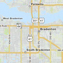 Mapquest Florida Map.Map Of Palmetto Florida Palmetto Fl Restaraunts Hotels