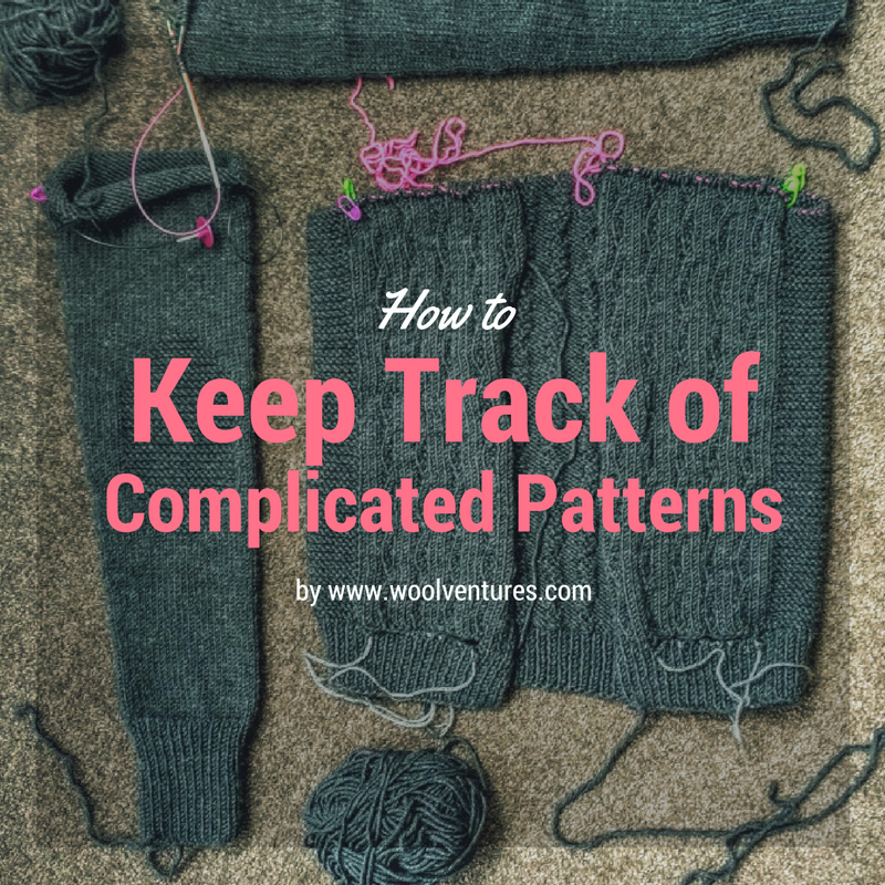 Tips: How to keep track of complicated patterns? | Knitting patterns ...