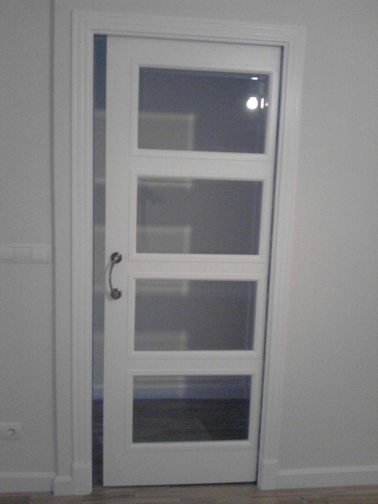 Resultado de imagen de puertas de interior lacadas en - Cristales puertas salon ...