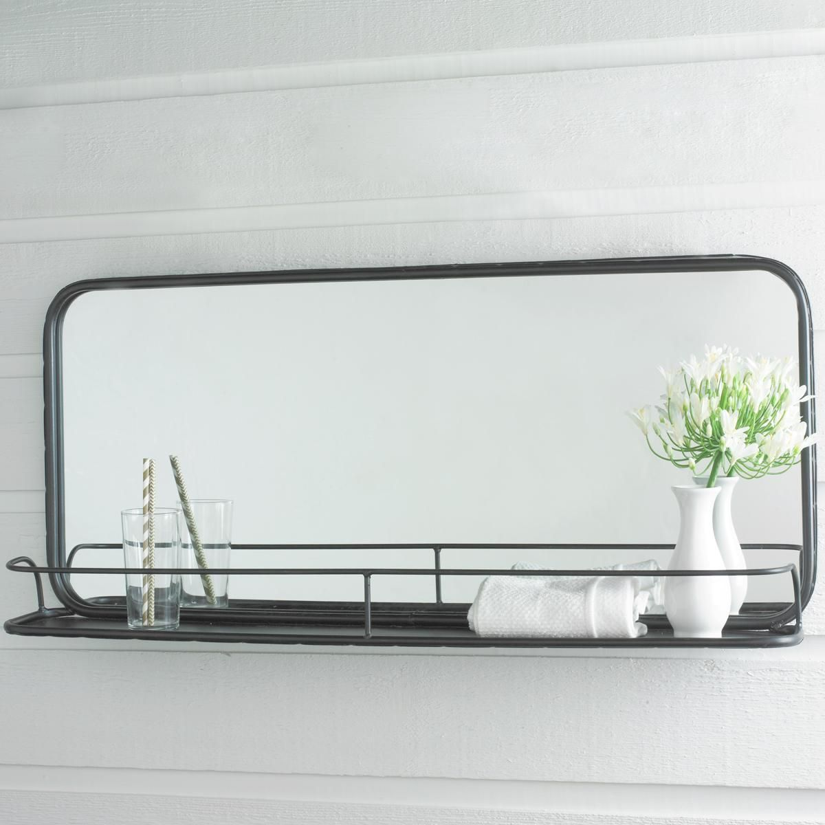metal mirror with shelf large metal mirror and shelves