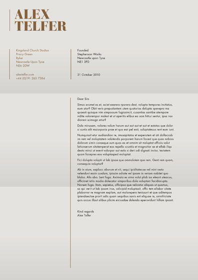cv cover letter - Letterhead Resume Cover Letter