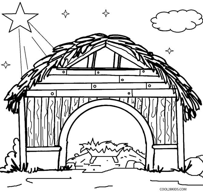 Printable Nativity Scene Coloring Pages for Kids Cool2bKids X - copy nativity scene animals coloring pages