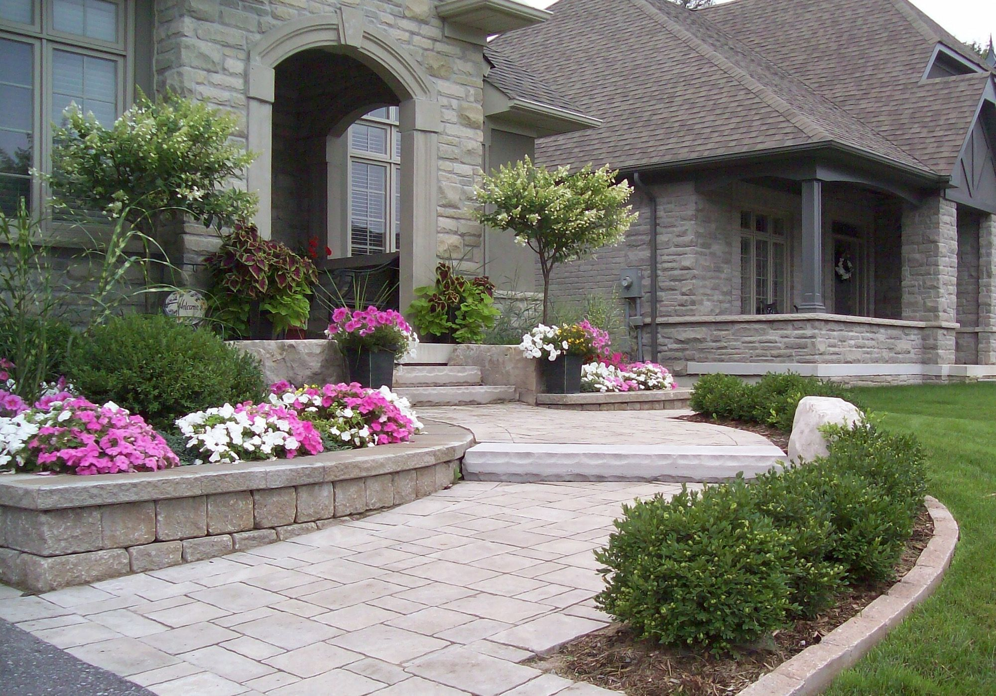 front entrance pickering front porch entry landscaping