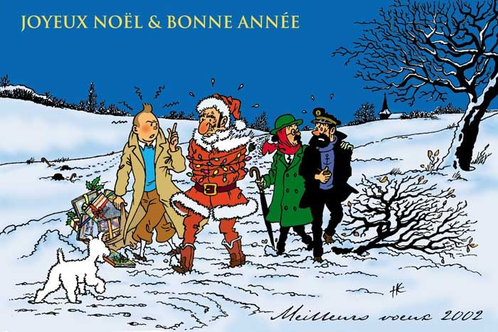 Tintin Christmas Greetings Tintin Herge J Aime