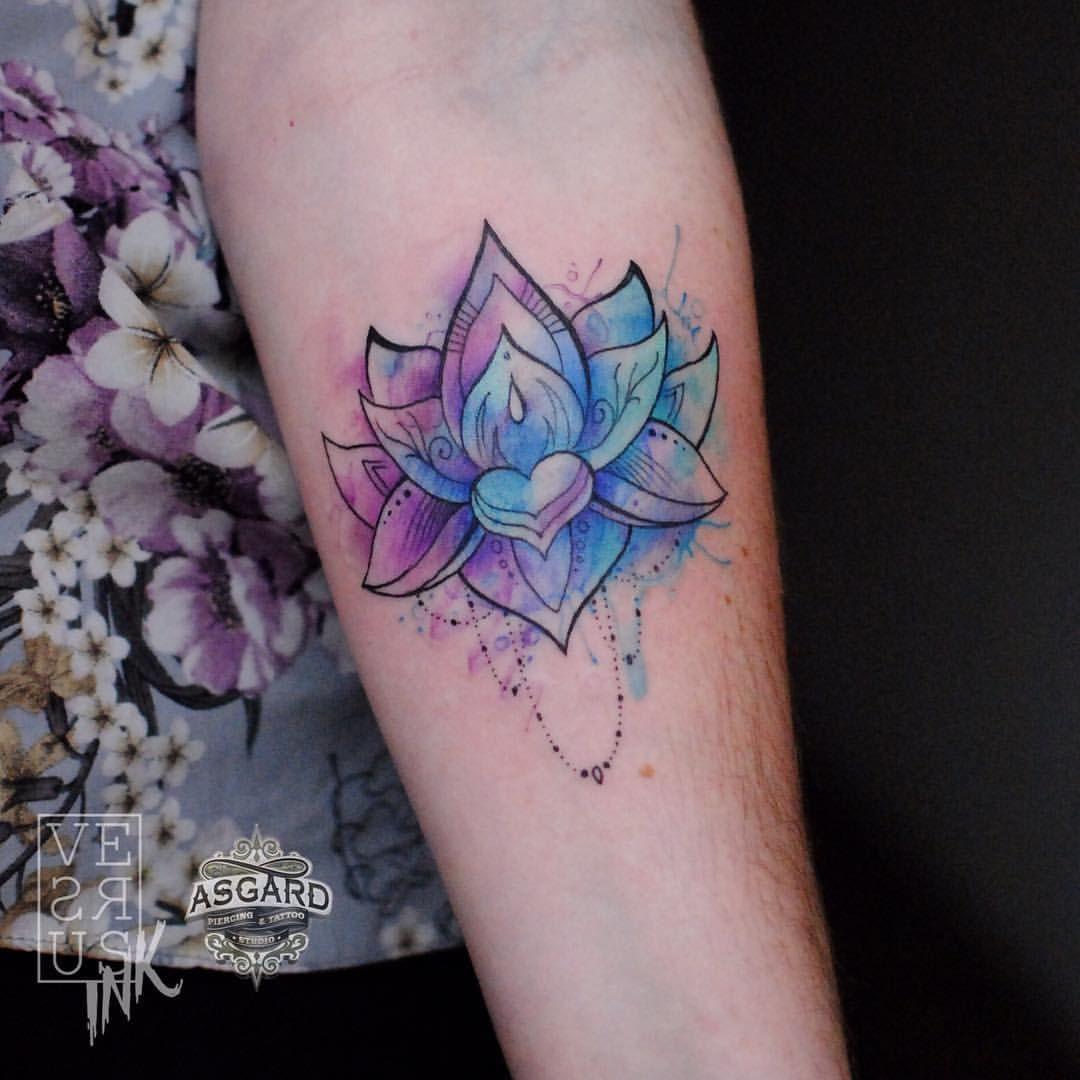 Watercolor Mandala Tattoo Google Search Typography Tattoo Tattoos Mandala Tattoo