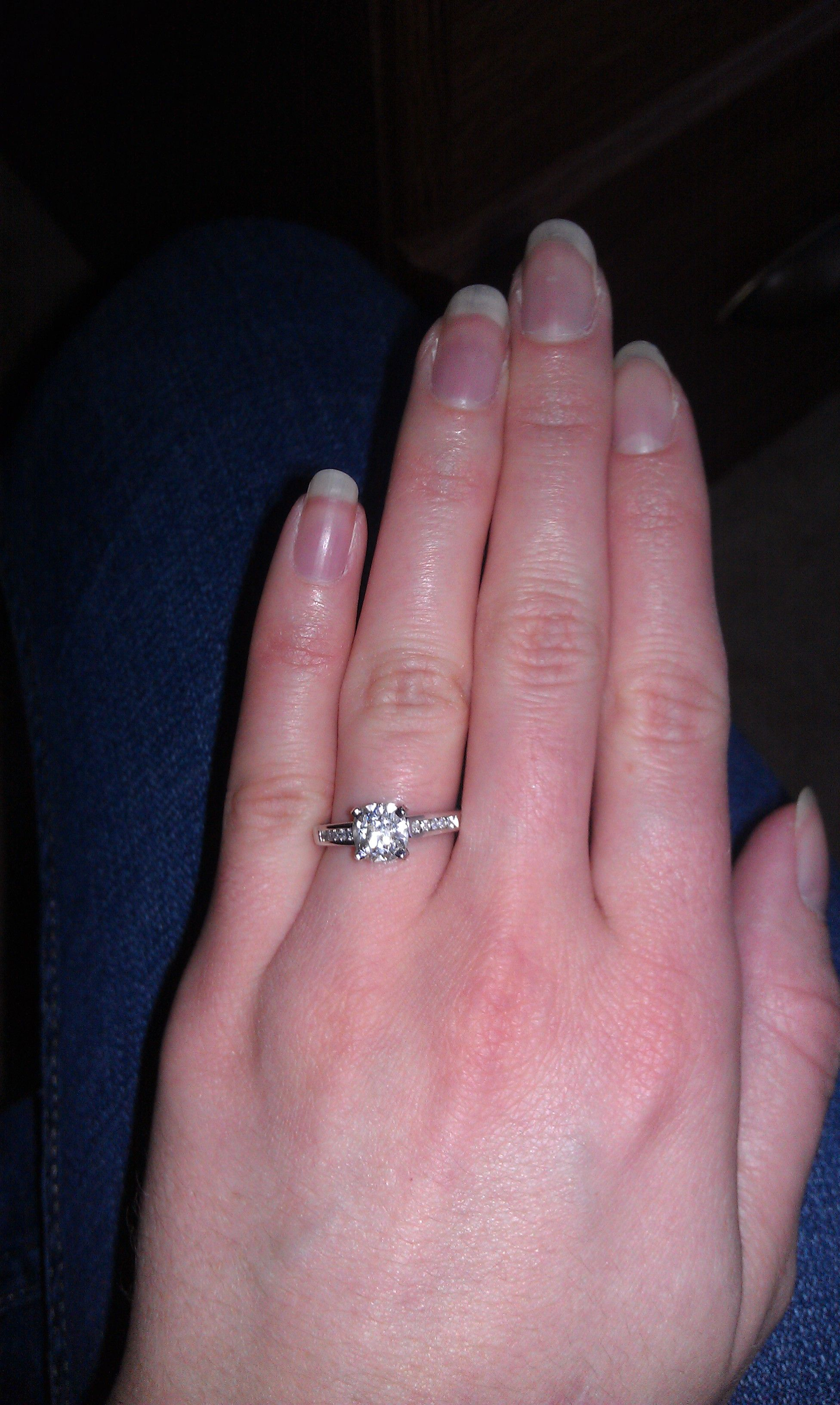 My engagement ring with my grandma\'s diamond | Grandma\'s Ring ...