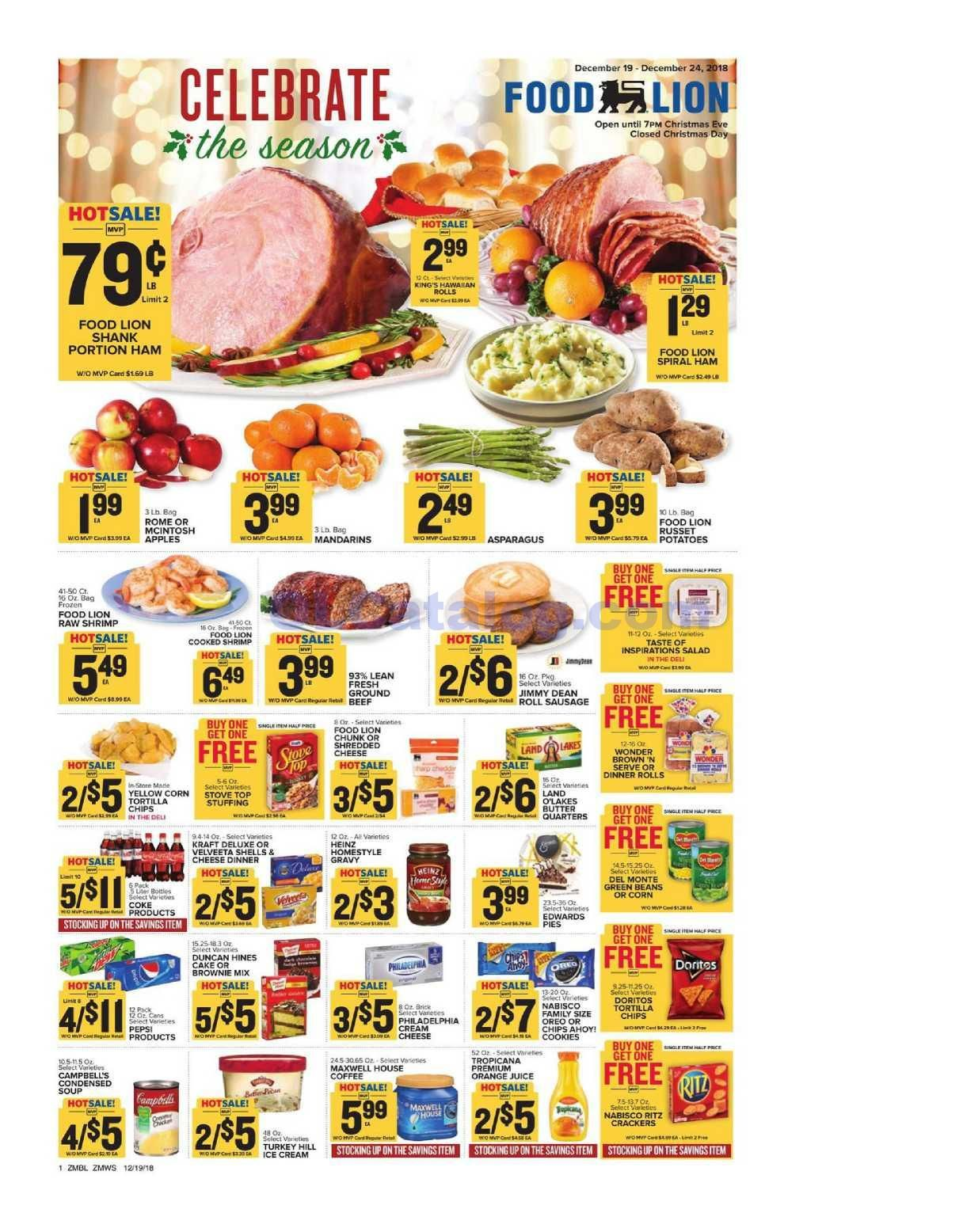 Food Lion Weekly Ad December 19 24 2018 Do You Know What S In And What S Hot In The Food Lion For This Week If You Haven T Using The Store S Weekly Advert