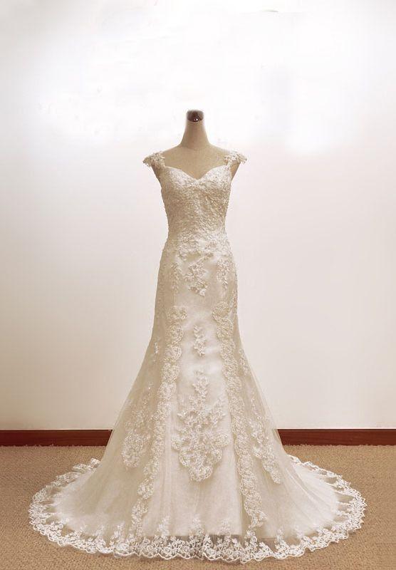 lace+a+line+wedding+dress | ... Vintage Wedding Dresses > Lace ...