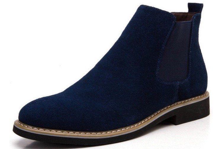 Vintage Suede Blue Chelsea Boots