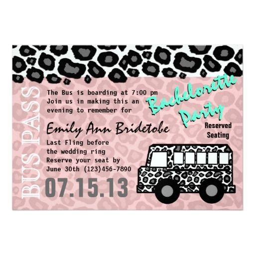Party bus bachelorette party bash 5x7 paper invitation card party bus bachelorette party bash 5x7 paper invitation card stopboris Choice Image