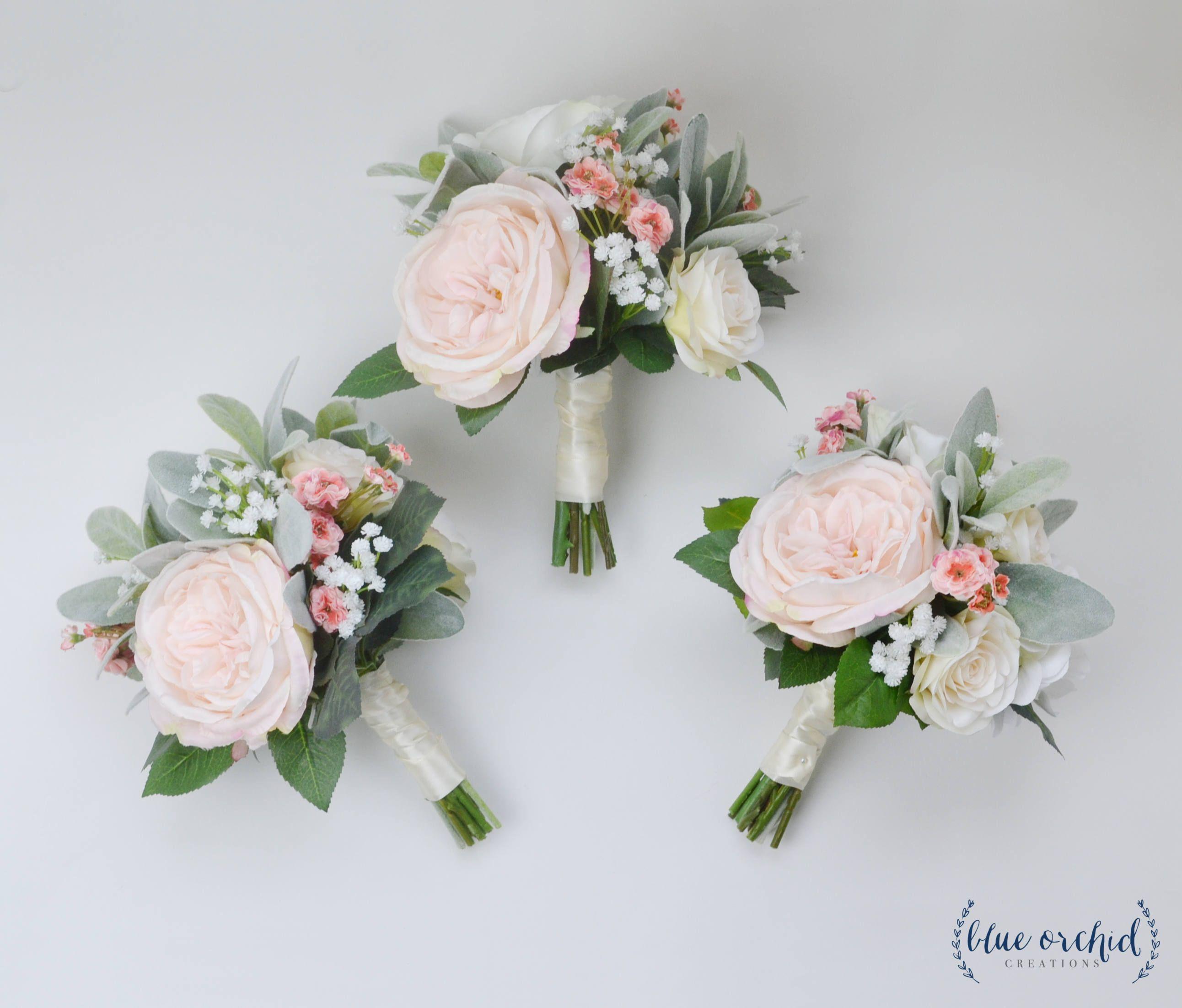 Wedding Flowers, Bridesmaid Bouquet, Bridesmaid Bouquet, Boho Bouquet, Boho Wedding Flowers, Pink Bouquet, White, Pink, Wedding Flower Set