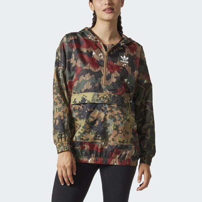 3f06aa2e0af9 adidas Pharrell Williams Hu Hiking Camo Windbreaker - Womens Jackets ...
