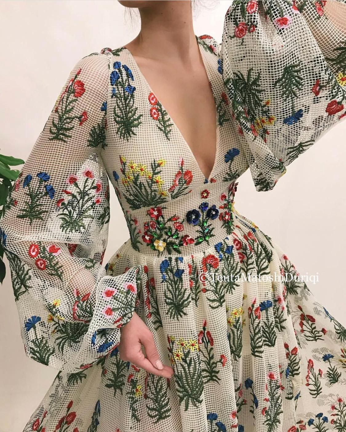 Wildflowers Queen Gown 2
