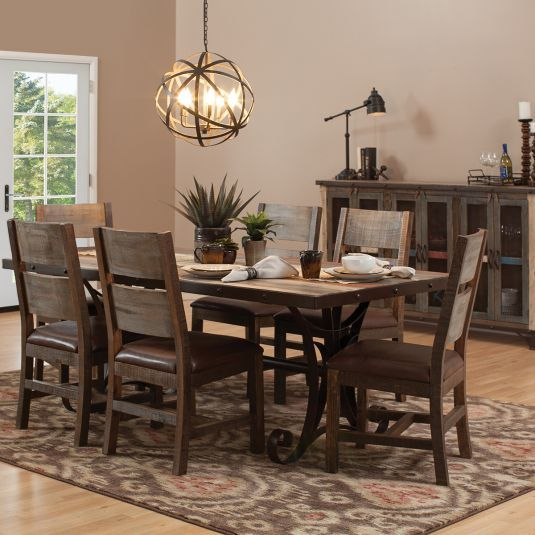 Rosanna Dining Collection Jerome S Furniture Home Decor Rustic