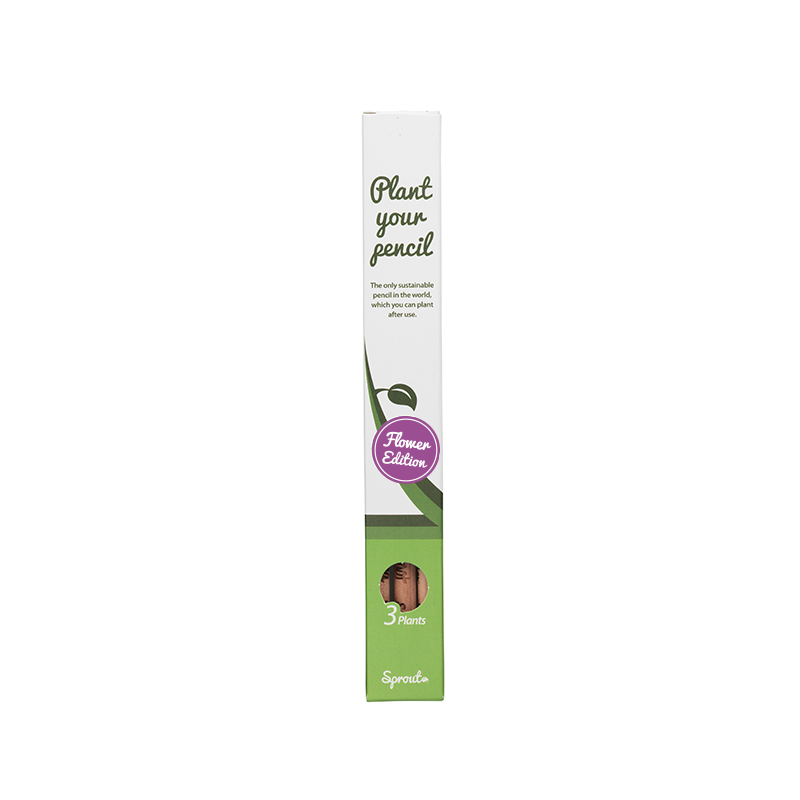 Sprout Pencil Flower Edition – Pack of 3 Sprout Pencil Flower Edition contains 3 of our flower varieties, which are the original and only plantable pencils in the world!  Don´t throw your pencil stub away when it is too short to write with. Give it a new life – plant it! This is what sustainability