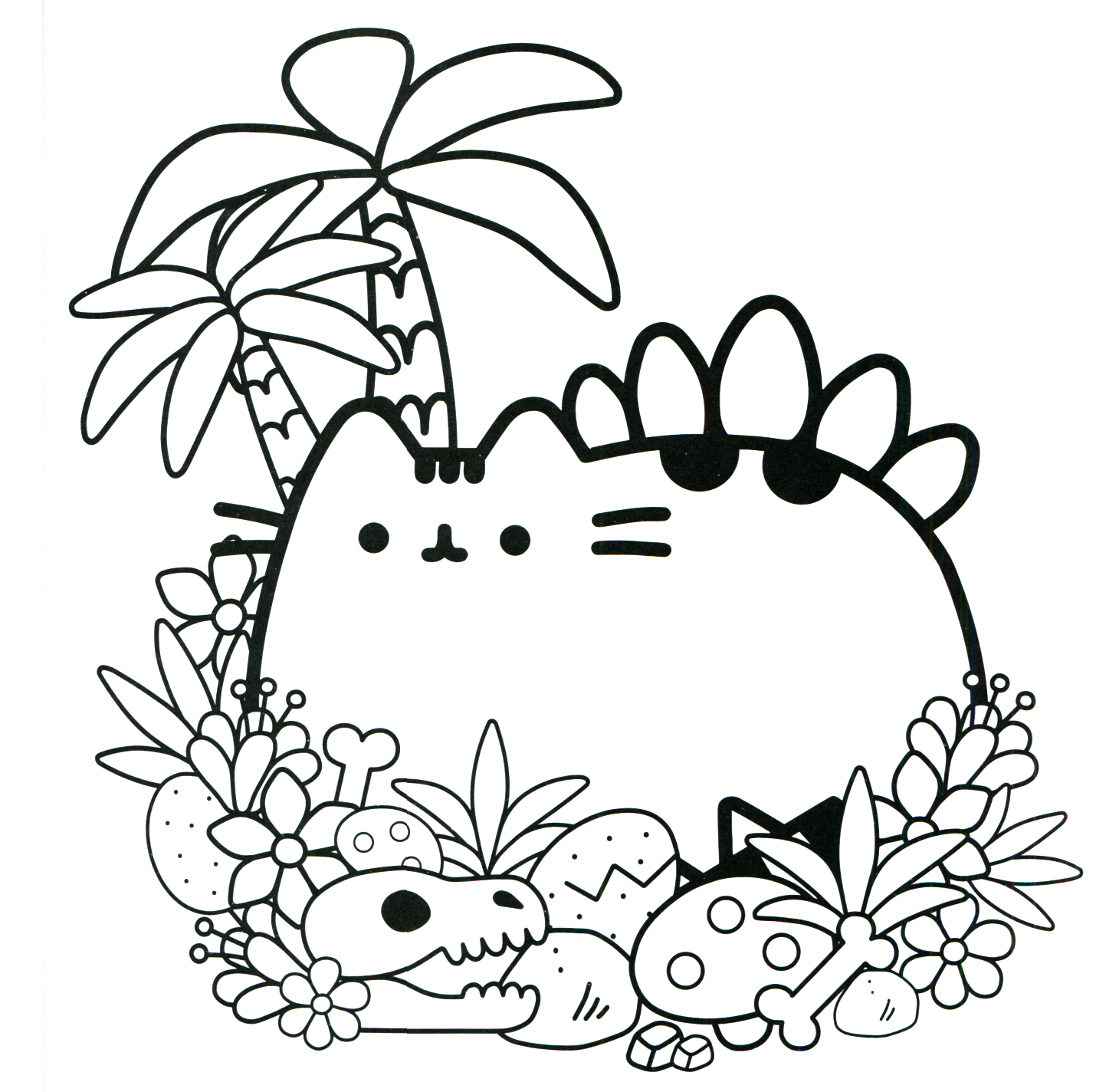 Pusheen Cat Coloring Pages Sketch Coloring Page